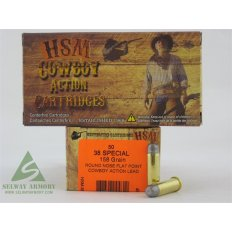 "HSM Factory Blemish .38 Special 158 Gr. Round Nose Flat Point ""Cowboy Action"" Lead"