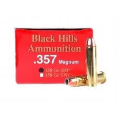 Black Hills .357 Magnum 158 Gr. Jacketed Hollow Point- Box of 50