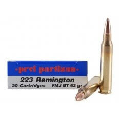 Prvi Partizan .223 Remington 62 Gr. Full Metal Jacket Boat Tail- Box of 20