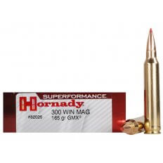 Hornady SUPERFORMANCE .300 Winchester Magnum 165 Gr. GMX Boat Tail- Box of 20