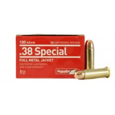 Aguila .38 Special 130 Gr. Full Metal Jacket- Box of 50