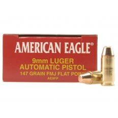 Federal American Eagle 9mm Luger 147 Gr. Full Metal Jacket- Box of 50