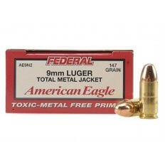 Federal American Eagle 9mm Luger 147 Gr. Total Metal Jacket- Box of 50