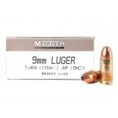 Magtech 9mm 115 Gr. JHP- Box of 50