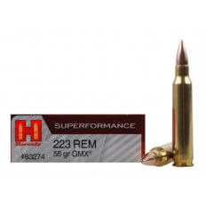 Hornady SUPERFORMANCE .223 Remington 55 Gr. GMX Boat Tail- Box of 20