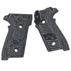 SIG SAUER P229 Hogue G10 Piranha Grips- Black Grey GRIP-229-G10-BLKGRY