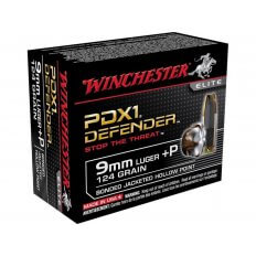 Winchester Elite Self Defense 9mm +P 124 Gr. Bonded PDX1 Jacketed Hollow Point- Box of 20