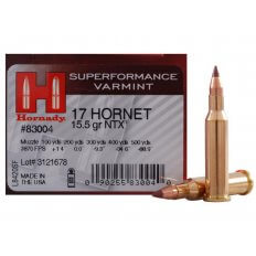Hornady SUPERFORMANCE Varmint .17 Hornet 15.5 Gr. NTX- Lead-Free- Box of 25