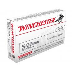 Winchester USA 5.56x45mm NATO 55 Gr. Full Metal Jacket- Box of 20