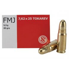 Sellier & Bellot 7.62x25 Tokarev 85 Gr. FMJ- Box of 50