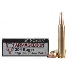 Nosler Varmageddon .204 Ruger 32 Gr. Hollow Point Flat Base- Box of 20