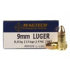 Magtech Sport 9mm Luger 124 Gr. Full Metal Jacket- Box of 50