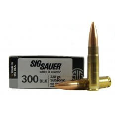 SIG SAUER Elite Performance .300 AAC Blackout 220 Gr. Open Tip Match Subsonic- Box of 20
