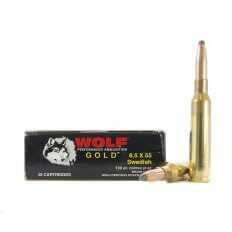 Wolf Gold 6.5x55mm Swedish 139 Gr. Soft Point- Box of 20