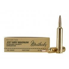 Weatherby .257 Weatherby Magnum 120 Gr. Nosler Partition- Box of 20