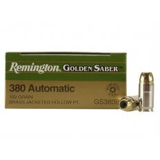 Remington Golden Saber .380 ACP 102 Gr. Brass JHP- Box of 25