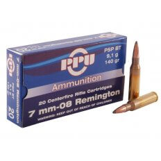 Prvi Partizan 7mm-08 Remington 140 Gr. Pointed Soft Point Boat Tail- Box of 20