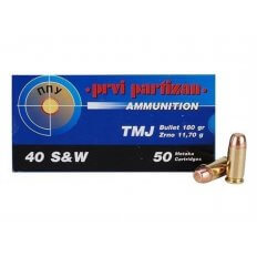 Prvi Partizan .40 S&W 180 Gr. Total Metal Jacket- Box of 50