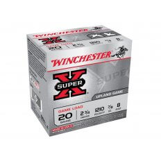 "Winchester Super-X Game Load 20 Gauge 2-3/4"" 7/8 oz #8 Shot- Box of 25"