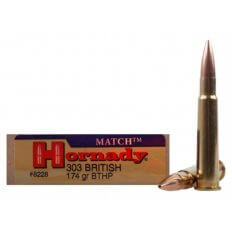 Hornady Vintage Match .303 British 174 Gr. Boat Tail Hollow Point- Box of 20