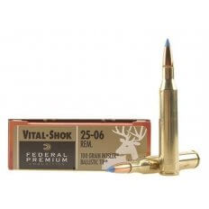 Federal Premium Vital-Shok .25-06 Remington 100 Gr. Nosler Ballistic Tip- Box of 20
