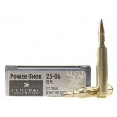 Federal Power-Shok .25-06 Remington 117 Gr. Speer Hot-Cor Soft Point- Box of 20