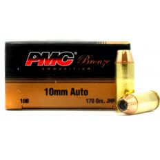 PMC Bronze 10mm Auto 170 Gr. Jacketed Hollow Point- Box of 25