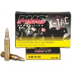 PMC 5.56x45 55 Gr. NATO X-TAC FMJ BT- Box of 20