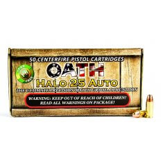 OATH HALO .25 Auto 40 Gr. Copper Solid Lead-Free Match- Box of 50