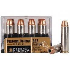 Federal Premium Personal Defense Reduced Recoil .357 Magnum 130 Gr. Hydra-Shok Jacketed Hollow Point- Box of 20