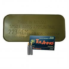 TulAmmo .223 Remington 55 Gr. Full Metal Jacket (Bi-Metal) Steel Case- Sealed Can of 500