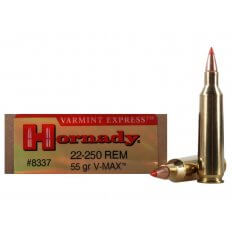Hornady Varmint Express .22-250 Rem 55 Gr. V-MAX- Box of 20