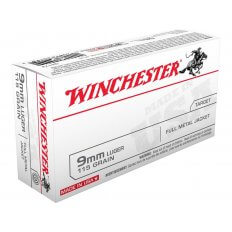 Winchester USA 9mm Luger 115 Gr. FMJ- Box of 50