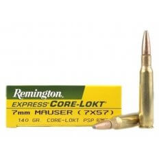 Remington Express 7x57mm Mauser (7mm Mauser) 140 Gr. Core-Lokt Pointed Soft Point- Box of 20