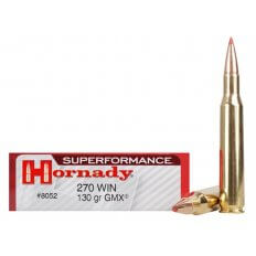 Hornady SUPERFORMANCE GMX .270 Winchester 130 Gr. GMX Boat Tail- Lead-Free- Box of 20