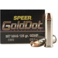 Speer Gold Dot .357 Magnum 125 Gr. Jacketed Hollow Point- Box of 20