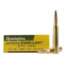 Remington Express .270 Winchester 130 Gr. Core-Lokt Pointed Soft Point- Box of 20