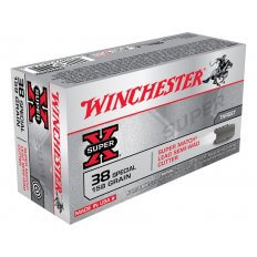 Winchester Super-X .38 Special 158 Gr. Lead Semi-Wadcutter X38WCPSV