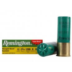 "Remington Managed-Recoil Express 12 Gauge 2-3/4"" 00 Buckshot 8 Pellets- Box of 5"
