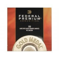 Federal Premium Gold Medal Large Rifle Match Primers #210M- Box of 1000 (HAZMAT Fee Required)