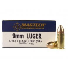 Magtech Sport 9mm Luger 115 Gr. Full Metal Jacket 9A