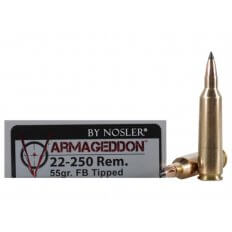 Nosler Varmageddon .22-250 Remington 55 Gr. Tipped Flat Base- Box of 20