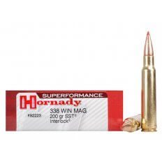 Hornady SUPERFORMANCE .338 Winchester Magnum 200 Gr. SST- Box of 20