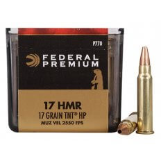 Federal Premium V-Shok .17 Hornady Magnum Rimfire (HMR) 17 Gr. Speer TNT Jacketed Hollow Point P770