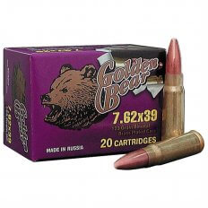 Golden Bear 7.62x39 123 Gr. FMJ (Bi-Metal)- Case of 500