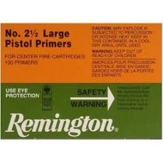 Remington Large Pistol Primers #2-1/2- Box of 1000 (HAZMAT Fee Required)