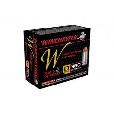 Winchester W Defend Reduced Recoil .380 ACP 95 Gr. Jacketed Hollow Point- Box of 20