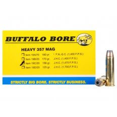 Buffalo Bore .357 Magnum 158 Gr. Semi-Jacketed Hollow Point High Velocity- Box of 20
