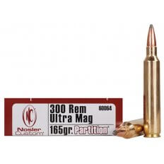 Nosler Trophy Grade .300 Remington Ultra Magnum 165 Gr. Partition- Box of 20