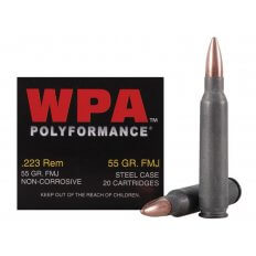 Wolf Polyformance .223 Remington 55 Gr. Full Metal Jacket (Bi-Metal) Steel Case- Case of 500